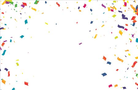Buntes Konfetti auf transparentem Hintergrund. Feier & Party. Vektor Vektorgrafik
