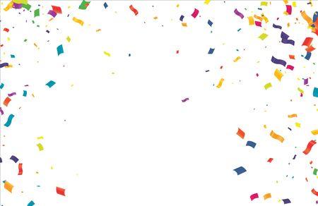 Colorful Confetti On Transparent Background. Celebration & Party. Vector Vector Illustratie