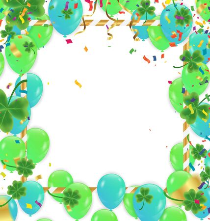 Celebration background with colorful balloons and confetti