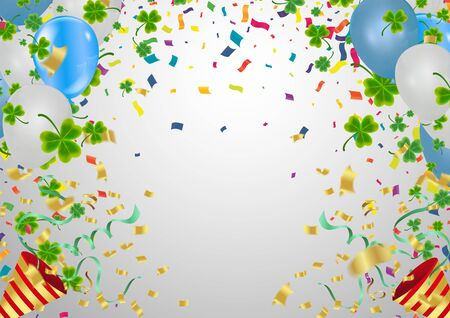 Birthday party festive Bright Background with Balloons
