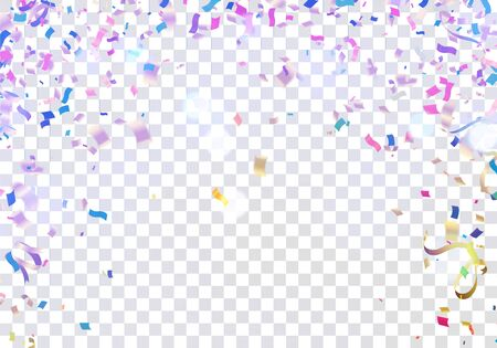 Colorful ribbons for celebrations party background with multicolored