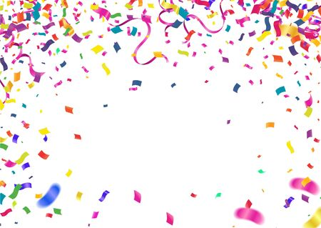 Rubans colorés pour le fond de fête de célébrations avec multicolore Vecteurs