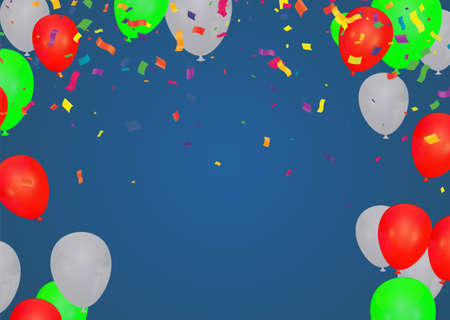 Celebration party banner with Gold balloons background. Vector illustration.