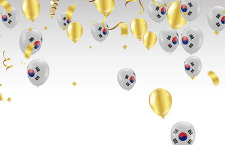 south korea Independence Day poster. Patriotic holiday.south korea balloons