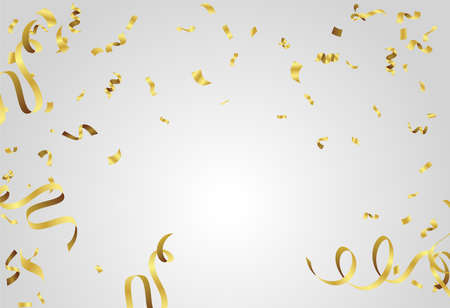 Holiday and confetti flying on background, template typography for greeting card, festive poster illustration , etc