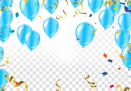 Happy Birthday eighty eight year, fun celebration anniversary greeting card with number, balloon on background