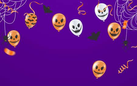 birthday greeting , Balloons light blue , Background Card Template Glossy Helium Vector Illustration EPS10 Illustration