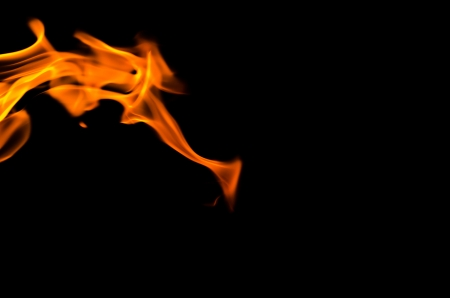 Fire flames on a black background Stock Photo - 23665993