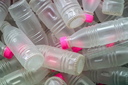 managing waste: plastic bottles that can be recycled