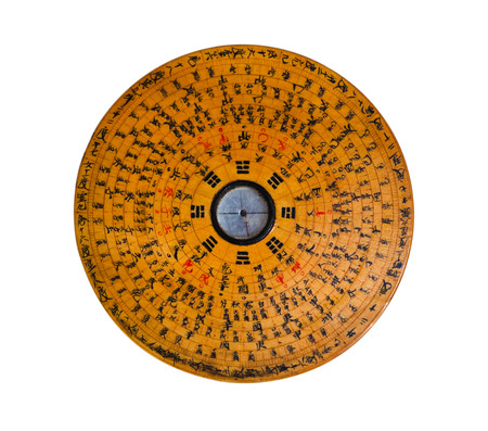 old gossip disk, used to predict the fate and the feng shui