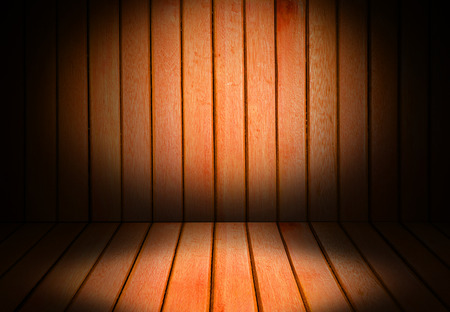 straggly: Wooden interior room corner for background
