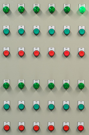 The industrial control panel to manage the plant  photo