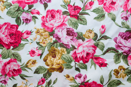 fancywork: Print fabric with many flowers
