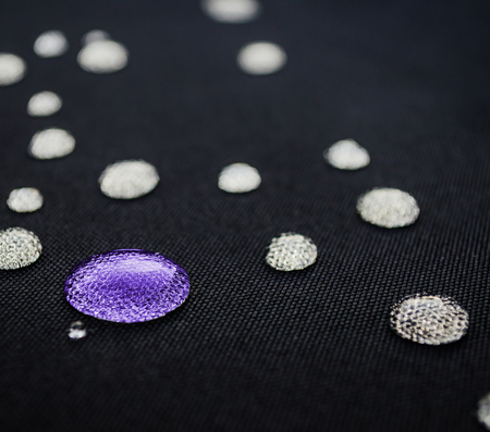 Water droplets colorful on is fiber Waterproof fabric