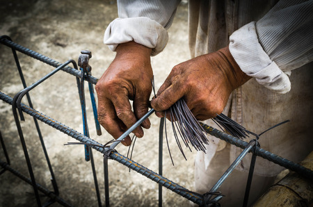 strenghten: Steel rods or bars used to reinforce concrete technicians.
