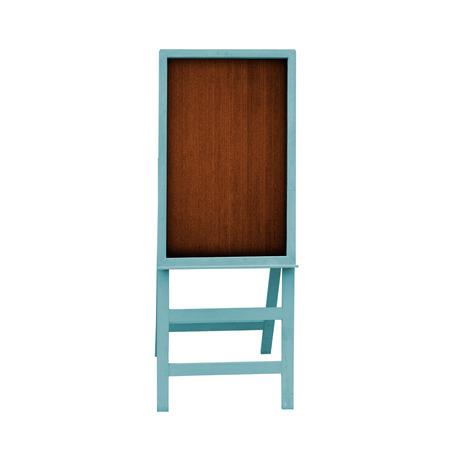 Retro blue frame blackboard is on white background. photo