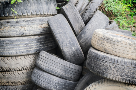 bad service: Old tire isolated