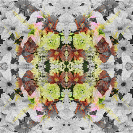 stylishness: Flowers, Spring style seamless background pattern - For easy making seamless pattern use it for filling any contours Stock Photo