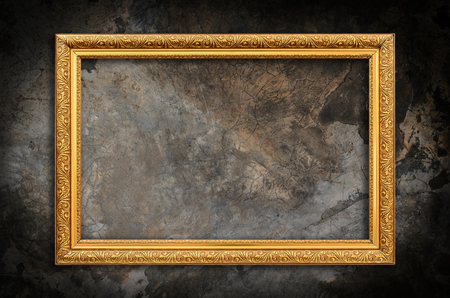 art painting: Picture frame on the wall grunge wall background