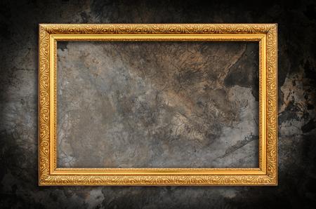 Ramka na zdjęcia na ścianie grunge tle ściany Zdjęcie Seryjne