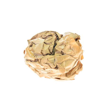 crinkly: Crumpled paper balls isolated on white
