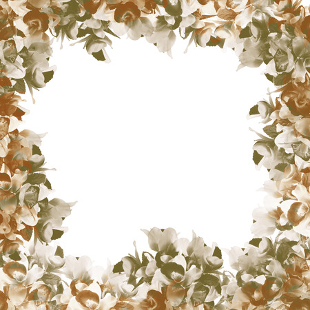 soft colors: pattern Flower, orchid flower print in soft colors made from fabric
