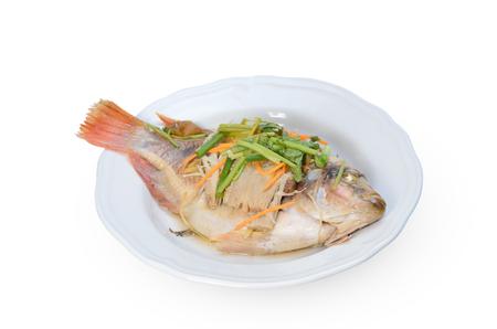 an onions: pescado al vapor con limón.