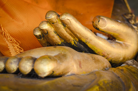 hand Golden Statue of Buddha