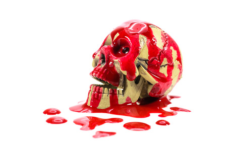 gory: Gory Halloween skull Stock Photo