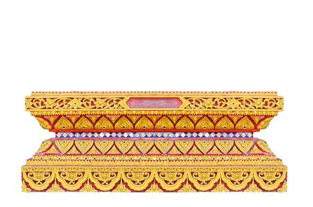 Thai style molding art, base of window in Thai style Buddhist church