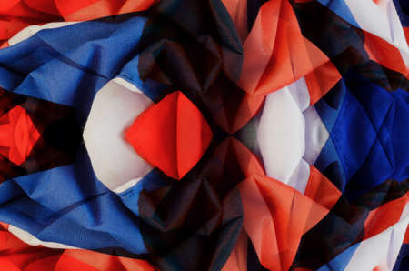 darn: Red, white and blue cloth color crease darn offseason.