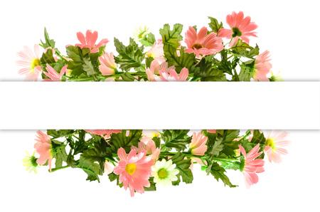 テキストのスペースと美しい花