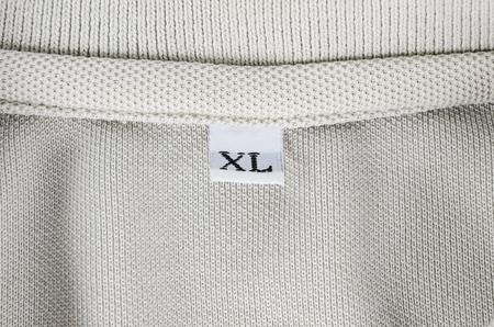 XL size clothing label Stok Fotoğraf