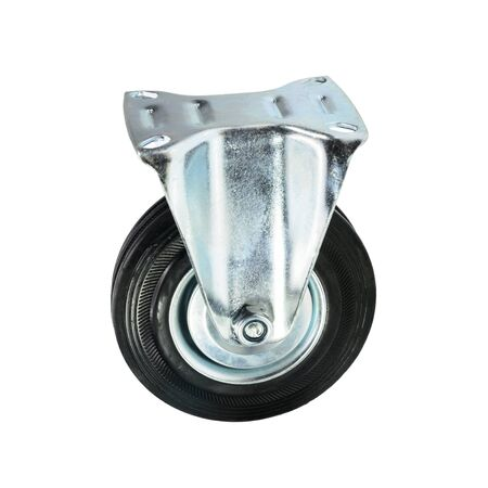 swivel: Trolley Wheel Stock Photo