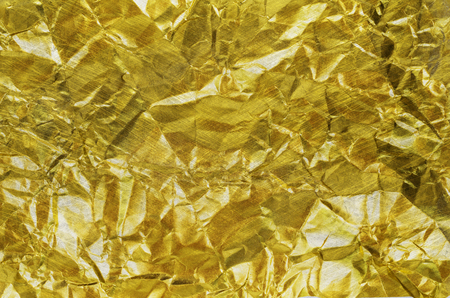 Gold paper texture or Shiny yellow leaf gold foil texture background Stock fotó