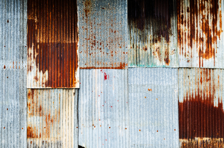 Corrugated rusty zinc sheet for background Stock fotó - 110675578