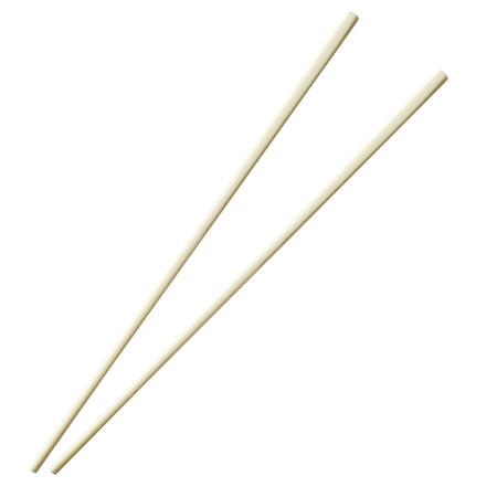 White chopsticks isolated on white background