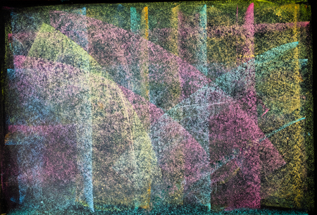 Blackboard drawing colorful background