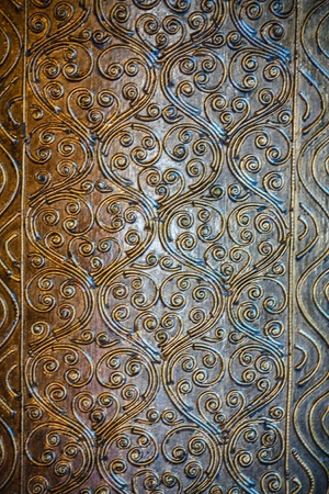 Material Roof,wall and ancient tile Thai silver pattern Crafts world  Thai Lanna style  Delicate style is timeless and powerful  Chiang Mai, Thailand Stock Photo - 16867479