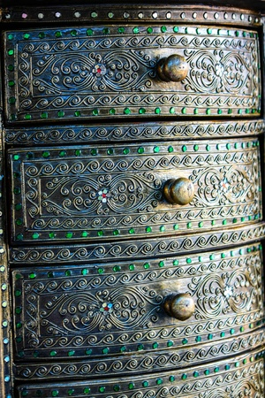 Material Roof,wall and ancient tile Thai silver pattern Crafts world  Thai Lanna style  Delicate style is timeless and powerful  Chiang Mai, Thailand Stock Photo - 16867380