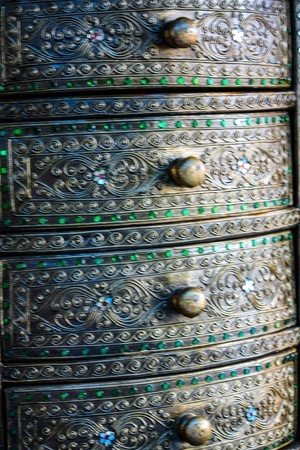 Material Roof,wall and ancient tile Thai silver pattern Crafts world  Thai Lanna style  Delicate style is timeless and powerful  Chiang Mai, Thailand  photo