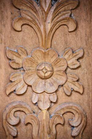 door house ground carves flower Thai stripes Stock Photo - 16867566