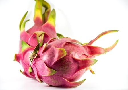 rosa pitahaya isolato su uno sfondo bianco Archivio Fotografico