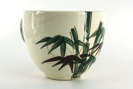 coffee white picture cup is species of bamboo Stock Photo