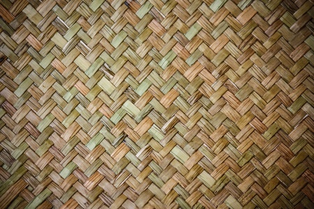 Floor mat made from woven reeds photo