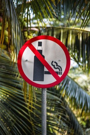 Smoke Free Environment Sign displayed in beautiful natural surroundings.