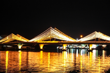 bridge decorates with the light photo