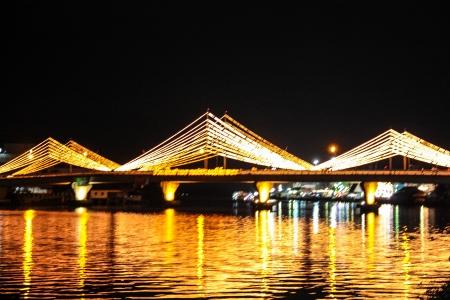 decorates: bridge decorates with the light Stock Photo