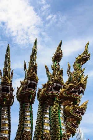 Dragon statue,Wat sat tha pon ,Uttaradit Province,Thailand Stock Photo