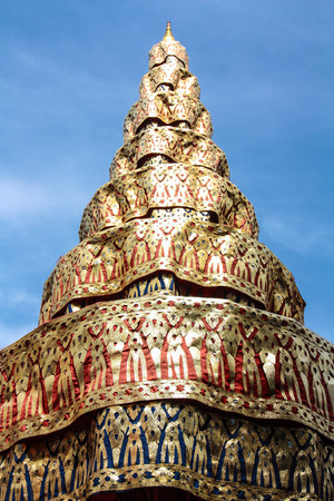 Traditional Thai art on temple wall